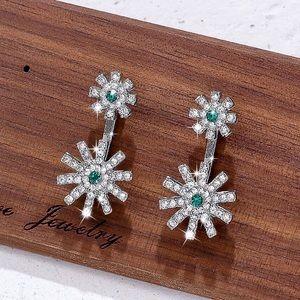 2/$20! Silver Crystal Flower Studs/Earrings
